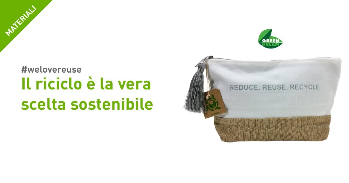 packaging riciclato riutilizzabile sostenibile